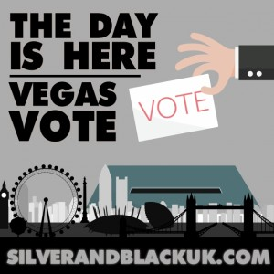 The Day Is Here Vegas Vote Silver Amp Black Uk