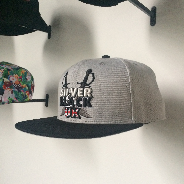 3d Logo Luxury Snapback Hat Silver Black Uk